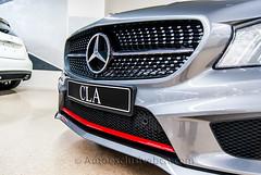 Mercedes-Benz CLA 250 Sport AMG - 211 c.v - Gris Montaña - Piel Red Cut - Exclusive AMG