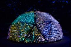 Beacon (davidwilliamreed) Tags: nightshot availablelight afterdark lightsculpture sodabottles fiberopticlights artistbrucemunro lightinthegarden marvelousexhibit