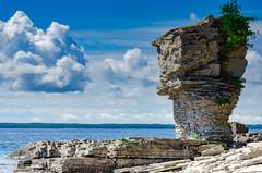 Slate Monolith (Brandon_Hilder) Tags: flowerpot lakeshore sky nikon nikkor nikon18200mm landscape landscapes tobermory 18200mm nikond7000 d7000 d7k
