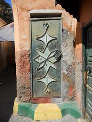 Post box (melita_dennett) Tags: africa door old city geometric architecture design town patterns north el historic doorway morocco moorish marrakech medina ornate fna jemaa djema elfna djemaa elfnaa