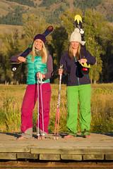 Karissa & Sarah (nevadoyerupaja) Tags: girls portrait usa ski female magazine skiing flash group babe powder editorial wyoming speedlight ripping shred strobes pocketwizard strobist jhmr nikond810 nikonsb900 nikonsb700