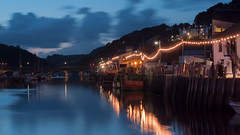 East Bank, Looe harbour. (ianladd) Tags: bridge light sunset summer reflection water glass speed canon eos golden evening cornwall day slow harbour bank august east filter hour shutter catch bulbs looe waning nd8 3stop 450d