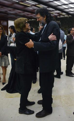 Teresa Parodi en la recepción a los participantes de la III Reunión de Ministros de Cultura de la CELAC y de la Reunión de Ministros del ALBA