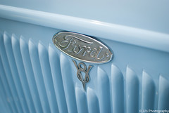 Blue Ford V8 (bub9001) Tags: blue ford car grill rod v8