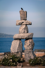 Inukshuk (CWillis) Tags: canada vancouver englishbay raven cairn rocksculpture winterolympics inuksuk