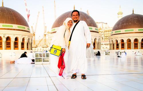 Top of King Faisal gate, Masjidil Haraam