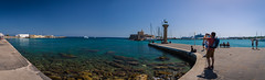 Mandraki Harbour, Rhodes Town, Greece (Robin Lundstrm) Tags: vacation beach town fort medieval greece rhodes lindos gennadi rd
