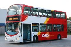 Rossendale Transport (Rosso) 116 LF52UTM at Haslingden Depot. (Gobbiner) Tags: