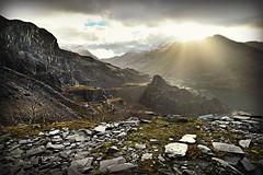 Dinorwic winter sun (PentlandPirate of the North) Tags: dinorwic slate quarry llanberis snowdonia gwynedd slatequarry northwales derelict ruin industrial dinorwig