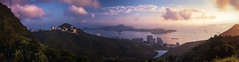 Looking Lama Island from the peak (E.HOBA) Tags: sunset panorama clouds landscape island hongkong hong kong lama highkey thepeak magichour hongkongisland gigapixel lamaisland fe55mm a7r2 a7rm2