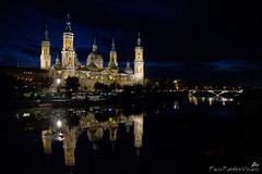 Basilica Acilisab (Paco Fuentes Vicario) Tags: catedral iglesia zaragoza ebro reflejos nocturno basílica barroco pilarica aragón virgendelpilar artebarroco ríoebro