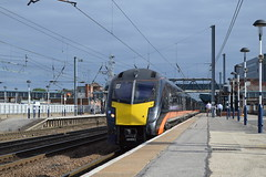 180105 departing Doncaster with the 1A59 Bradford Interchange to London Kings Cross, 10th Aug 2013. (Dave Wragg) Tags: railway grandcentral 180105 doncaster ecml class180 adlante 1a59