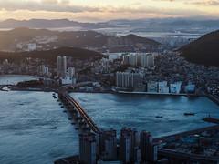 Busan-Sunset-Bongraesan-South Korea (mikemellinger) Tags: ocean city sunset sun beauty clouds coast cityscape view views busan stunning southkorea viewpoint beautifull crowded     bongraesan bongraemountain