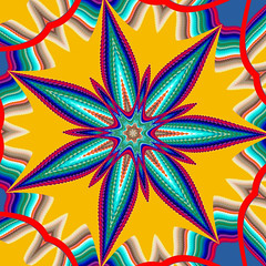 bluegreen7wedges offset1 (crescentmoongal) Tags: abstract color kaleidoscopes