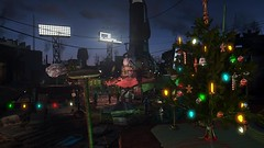 Fallout4 - Diamond City, Dec 25, 2287 (tend2it) Tags: christmas xmas city game color tree festive lights pc screenshot colorful december 4 decoration nuclear xbox dec diamond ornament 25 rpg future marketplace apocalyptic fallout injector postprocessing ps4 2287 reshade fallout4 screenarchery