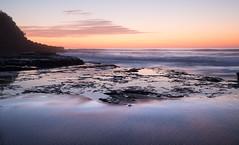 Foreground sand textures    Bungan Beach  {Explore 90, 2015/11/23} (David Marriott - Sydney) Tags: reflection texture beach sunrise dawn sydney reserve australia newport nsw newsouthwales bungan
