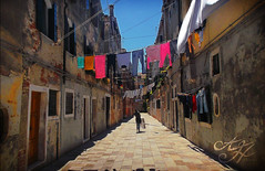 Returning Home (PurpleEagle) Tags: street venice urban italy home clothes return clotheslines urbanlife