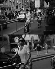 [La Mia Città][Pedala] (Urca) Tags: portrait blackandwhite bw bike bicycle italia milano bn ciclista biancoenero mirò bicicletta 2015 pedalare 7764 dittico nikondigitale ritrattostradale