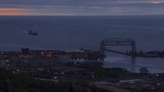 Duluth Morning Traffic (Sam Wagner Photography) Tags: timelapse 4k duluth mn minnesota lake superior harbor jamesrbarker ship coal energy aerial lift bridge great lakes