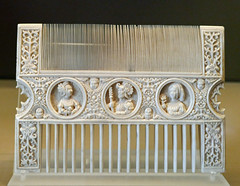 Ivory comb, first half of the 16th Century, Northern France (Monceau) Tags: musedulouvre ivory comb 16thcentury faces ornamentation elegant
