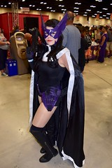 DSC_0012 (Randsom) Tags: alamocitycomiccon sanantonio texas october 2016 cosplay costume halloween fun colorful convention comicbook huntress dccomics mask cape wig redlips