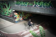 Bye bye summer (salahudin's paragnomen) Tags: krakw krakoff street salahudin city urban bike road grafitti biker dark tunnel