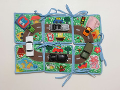 Playmat by Linearahandmade.etsy.com (LinearaHandMade) Tags: playmat mini play mat road cars green travel toy blanket imaginative kids toddler boy town childrens activity way