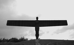 Angel of the North in B&W (neil mp) Tags: angel angelofthenorth gormley antonygormley sculpture figure steel newcastle gateshead tyneandwear lowfell