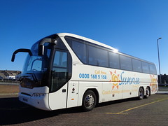 OV63XCN Sunrise Direct in Blackpool (j.a.sanderson) Tags: ov63xcn neoplan n22163shdc tourliner registered new december 2013 regalbusways sunrisedirect blackpool