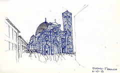 Duomo de Florencia (Andrs Goi :: www.andresgoni.cl) Tags: sketch croquis dibujo arquitectura lapiz mano handwrite architecture europa inglaterra england london train tren italy italia florencia firenze sienna