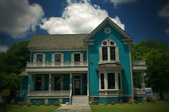 Blue Victorian (Mike McCall) Tags: 2016mikemccall pulaski county georgia usa photograph photo image picture 19th century nineteenth house residence building structure hawkinsville victorian blue jelks 1870 nathanielpjelks