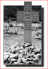 Here lies Lester Moore (Walter A. Aue) Tags: digitallyaltered arizona tombstone