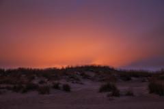Colorful night (Olli Tasso) Tags: sunset lightpollution valosaaste yyteri beach pori suomi finland outdoor sand dune grass red night autumn fall syksy landscape scenery calm peaceful serene minimalistic minimalism