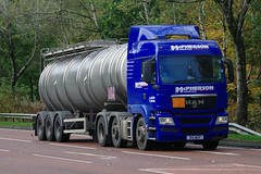 McPherson of Aberlour MAN TGS D15MCP on the A9 near Dunkeld, 18/10/16 (andyflyer) Tags: mcphersonofaberlour mantgs d15mcp tanker a9 hgv lorry truck transport haulage roadhaulage