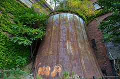 That Iron Planter (gregador) Tags: canton ohio industry decayed abandoned tank iron planter