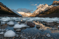 Laguna Torre in late morning light. (sierra_bum) Tags: patagona argentina glaciers ice lakes landscapes canon canonusa bringit reflections nature mountains flickr