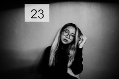 23 (Jon Siegel) Tags: nikon d810 sigma 24mm 14 sigma24mmf14art woman girl beautiful people singapore singaporean chinatown chinese night evening underground billiards billiardparlour bw blackandwhite
