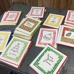 Assorted holiday letterpress cards thumbnail