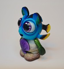 Baby Dory (Jared Circusbear) Tags: mickey mouse jared circusbear vinyl vinylmation urban art toy custom painting sculpture miniature collectible figurine figure disney pixar walt world plastic handmade actionfigures fanart munny munnyworld dunny kidrobot funko disneyana finding dory baby fish tang tropical ocean