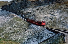 Type Hm2/2 no.10 at Oberstaffel, Switzerland. 08/10/2000. (Marra Man) Tags: brienzrothornbahn 10 oberstaffel 800mmgauge brb
