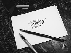 The United Hates of America ! (Jerome Decanter) Tags: theunitedhatesofamerica trump electionpresidencial calligraphy handwriting ecriture dippen parallelpen