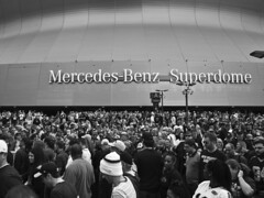 Zombies? (Narratography by APJ) Tags: apj narratography travels bw blackandwhite superdome neworleans mercedesbenz