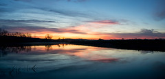 Nebraska October Sunrise 1 (Jamie.Sobczyk) Tags: october sunrise eugenetmahoney water sony 2016 mahoneystatepark orange clouds trees blue reflection a77 red panorama nebraska lake ashland unitedstates us