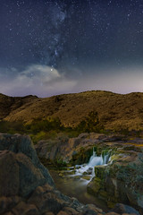 waterfall with milkyway (sm3h) Tags: milkyway milky way water waterfall     stars nikon    albaha albahah
