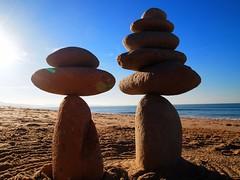 Bidart Ivan's cairns (anna.kah64) Tags: bidart beach sunset unicorn ocean france landscape biarritz walk ivan pierre