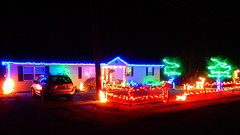 The Glow Of The Christmas Lights (rcvernors) Tags: theglowofthechristmslights rickchilders rcvernors christmaslights christmasdecorations ledlights colorfullights 2016