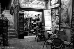 DSCF9656 (Joshua Williams' Photography) Tags: jerusalem israel bw night oldcity