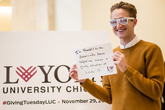 2016 Giving Tuesday (Loyola University Chicago) Tags: adv1640 givingtuesday loyolagives schreibercenter wtc give studentlife cards markpatton