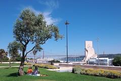 Lisbon - Resting with a great view (madbesl) Tags: lissabon lisbon lisboa belem portugal europa europe aussicht view panorama brcke bridge stadt city ponte25deabril ponte olympus pen p1 penp1 zuiko918