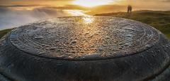 Sunrise from the East Lomond (Katherine Fotheringham) Tags: east lomond hill fife falkland inversion scotland trig point couple sun sunrise cloud